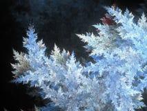 Голубой заморозок фрактали бесплатная иллюстрация