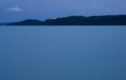 голубой заход солнца места Стоковое Фото