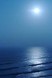 голубой заход солнца Стоковое Фото