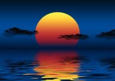 голубой заход солнца Стоковые Изображения