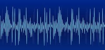 голубой звук диаграммы иллюстрация штока
