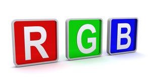 голубой зеленый цвет красный rgb кнопок Стоковые Фото