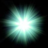 голубой зеленый цвет пирофакела Стоковая Фотография