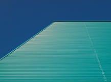 голубой зеленый цвет фасада Стоковые Фотографии RF