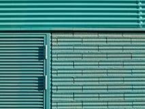 голубой зеленый цвет фасада Стоковое фото RF