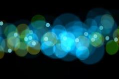 голубой зеленый цвет bokeh Стоковые Фото