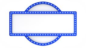 Голубой знак доски света шатёр ретро на белой предпосылке перевод 3d бесплатная иллюстрация