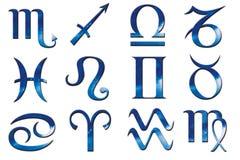 голубой зодиак Стоковая Фотография RF