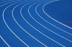 голубой идущий след Стоковое фото RF