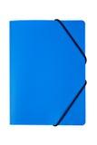 голубой изолированный скоросшиватель Стоковые Изображения