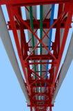 голубой изолированный хобот трубопровода Стоковые Изображения RF