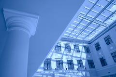 голубой интерьер цвета Стоковое фото RF