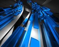 голубой информационный поток Стоковое Фото