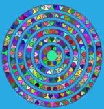 Голубой и абстрактный круг Стоковые Изображения