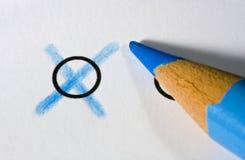 голубой карандаш Стоковое Изображение