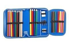 голубой карандаш случая Стоковые Фотографии RF