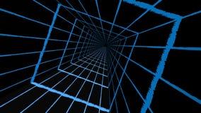 Голубой квадратный тоннель сток-видео