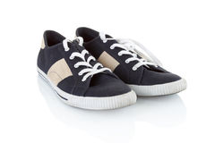 голубой классицистический родовой ботинок пар Стоковые Фотографии RF