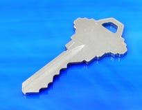 голубой ключ Стоковые Изображения RF