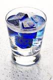 голубой коктеил холодный Стоковое Изображение RF