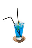 голубой коктеил Стоковое фото RF
