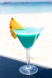 Голубой коктеил Curacao Стоковое Фото