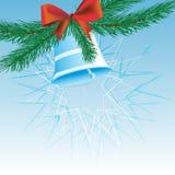 Голубой колокол рождества Иллюстрация вектора