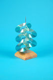 голубой компактный диск Стоковые Изображения