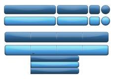 голубой комплект кнопки Стоковая Фотография RF