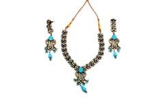голубой комплект jewelery стоковое фото