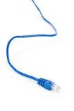 голубой компьютер кабеля Стоковые Изображения RF