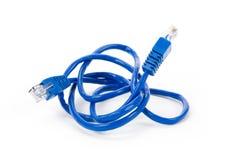 голубой компьютер кабеля Стоковое Изображение