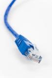 голубой компьютер кабеля Стоковые Фотографии RF