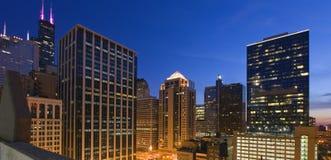 голубой конец дня chicago Стоковые Фотографии RF