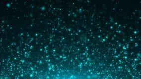 Голубой конспект рождества предпосылок bokeh Стоковые Изображения RF