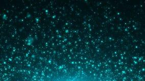 Голубой конспект рождества предпосылок bokeh Стоковая Фотография