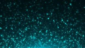 Голубой конспект рождества предпосылок bokeh Стоковая Фотография RF
