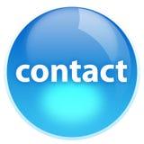 голубой контакт кнопки Стоковые Фотографии RF