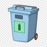 Голубой контейнер отброса ящика для пластикового ненужного значка бесплатная иллюстрация
