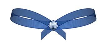 голубой контур смычка Стоковое Изображение