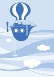 голубой корабль летания Стоковое Изображение