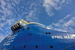 Голубой корабль смешанного груза Стоковое фото RF