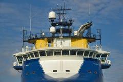 Голубой корабль смешанного груза Стоковое Фото