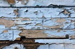 голубой корпус шлюпки старый Стоковое фото RF