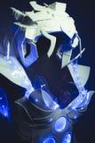 голубой корсет сделанный вручную с пластичными частями и синь покрасили LE Стоковое Изображение