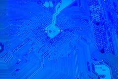 голубой космос материнской платы Стоковое Изображение