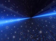 голубой космос снежинок Стоковое Изображение RF