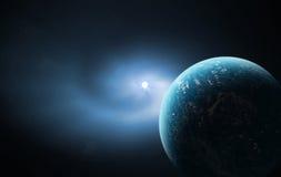 голубой космос Стоковая Фотография RF