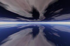 голубой космос Стоковое Изображение RF