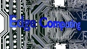 Голубой край слова вычисляя поверх накаляя монтажной платы 3D иллюстрация вектора